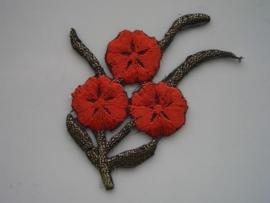 A221- strijk applicatie bloem ca. 6.5cm AANBIEDING