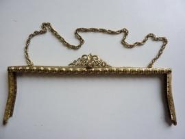 58- tasbeugel met ketting 23cm bronskleur