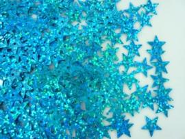 10gram pailletten sterretjes van 12mm in glitter lichtblauw (grote hoeveelheid!)
