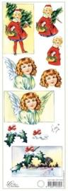 kn/561- 3D knipvel Marianne design `kerst` 10.5x29.7cm - 117141/5433