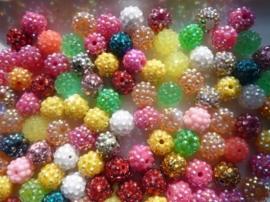 3984- 100 stuks strassballen mix van 9 - 10 mm - SPECIALE AANBIEDING