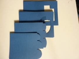 007961C- 12 stuks dubbele kaarten blauw OPRUIMING
