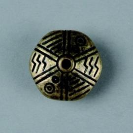 metalen kraal antiek goud 21x12mm 117465/2644