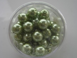50 x glasparels 8mm lime groen 117472/3170