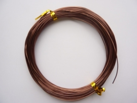 AW.15- 20 meter aluminiumdraad (Wire&Wire draad) van 0.8mm dik bruin