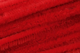 8476 160- 10 stuks chenille draad van 50cm lang en 8mm breed rood