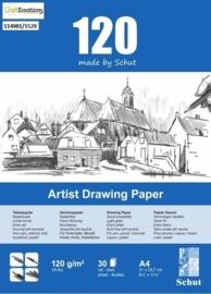 CE114981/1529- 30 vel Schut artist drawing paper 120grams A4 tekenpapier