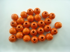 KN6021 102- 28 stuks houten kralen 12mm oranje
