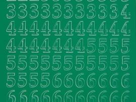 311- cijfers groen 10x20cm