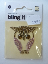 5952- Basic Grey bling it designer rhinestones uil OPRUIMING