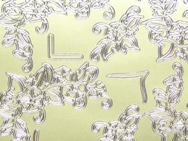 st 736- stickervel met diverse hoekjes goud 10x20cm