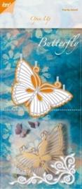 0-6003/2013- Joy! Crafts cutting & embossingstencil open up vlinder