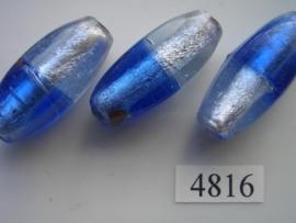 zilverfolie, ovaal 40x15mm 4816