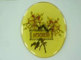 """SLK.201.A - transparante zelfklevende badge """"AFSCHEID """""""