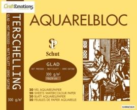 CE114984/1824- 20 vel Schut Terschelling aquarelbloc glad 300grams 18x24cm