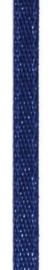 006302/0237- 4.5 meter satijnlint van 10mm breed op een rol donkerblauw