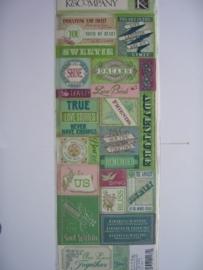 "5580- K&Co embossed stickers ""love"" 30x12cm"