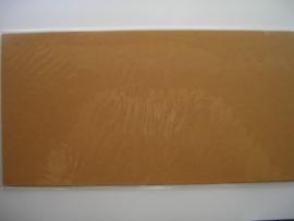 08160- 5 x luxe vierkanten kaarten linnenstructuur 13.5x13.5cm okerbruin SPECIALE AANBIEDING