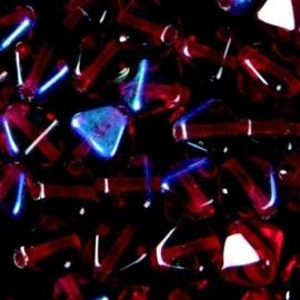 50 x pyramide glaskralen 6mm 108016/0016