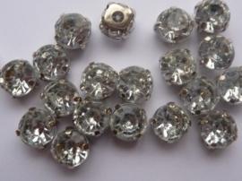 CH.030- 20 stuks rijgstrass / naaistrass van 8mm kristal
