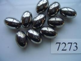 10 stuks licht metalen kralen van 14.5x9.5mm 7273