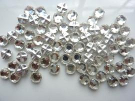 000531 - 370030/120- 72 stuks crystal rijgstrass/naaistrass SS30 6.4mm  crystal zilver