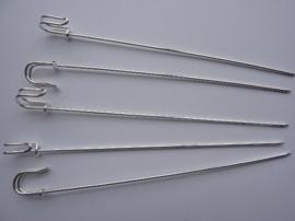 5991- 5 stuks hoedenspelden met herdersstaf 10cm- SUPERLAGE PRIJS!