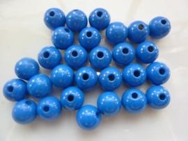 KN6021 358- 28 stuks houten kralen 12mm blauw