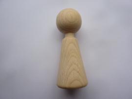 SLK.226 -  houten vingerpopje - 7 cm.