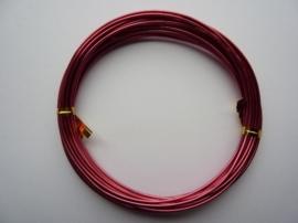 6 meter aluminiumdraad (Wire&Wire draad) van 1.5 mm dik fuchsia