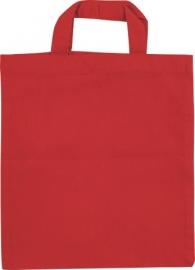 KN212304020- 12 stuks kindertasjes katoen rood 16cm