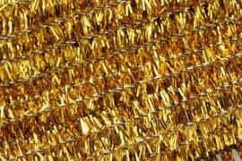 8476 764- 10 stuks chenille draad van 50cm lang en 8mm breed goud
