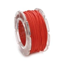 002290/0321- 10 meter waxcord met nylonkern rood 0.6mm dik