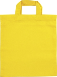 KN212304010- 12 stuks kindertasjes katoen geel 16cm