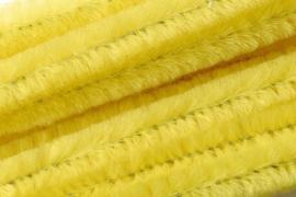 8476 055- 10 stuks chenille draad van 50cm lang en 8mm breed geel
