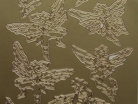 134- kerstafbeelding goud 10x20cm