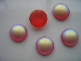 5162 - 5 x glasstenen 15x6mm rood