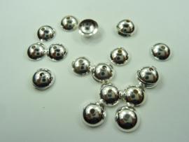 7mm kralenkapjes 20 stuks zilverkleur - SUPERLAGE PRIJS!- CH.052.7