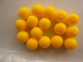 3750- 16 stuks glaskralen van 12mm neon/fluor licht oranje
