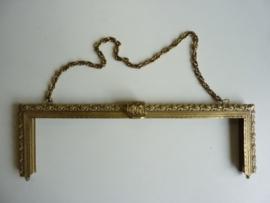 52- tasbeugel met ketting 30cm bronskleur
