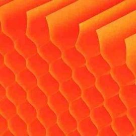 honingraat papier oranje/cyclaam 25x17cm