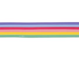 8306 066 - 18 x versierwas stroken 2mm pastel regenboog