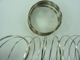 Memory Wire plat spiraaldraad voor veerarmband staalkleur ca. 20 wikkels