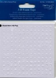 2 vel dubbelzijdig klevende foam rondjes 1mm dik - 338 rondjes van 4mm -TH12188/8802