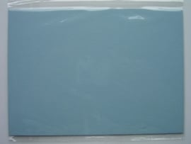 08098- 5 x luxe dubbele kaarten gerild standaard formaat licht blauw 10.5x14.8cm SPECIALE AANBIEDING