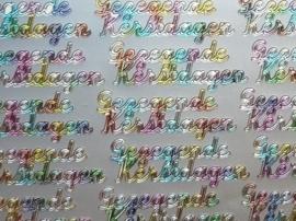 st1061- stickervel tekst gezegende kerstteksten multicolor
