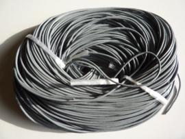 100 meter echt leren veter grijs van 2mm dik - AA kwaliteit - SUPERLAGE PRIJS!