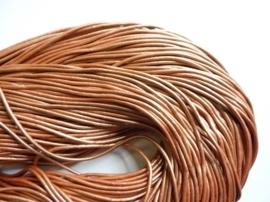 CH.007- 3 meter leren veter parelmoer lichtkoper 2mm dik AA kwaliteit - SUPERLAGE PRIJS!