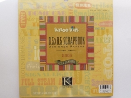 05951- 36 vel designer papers Kazoo kids K&Co 21.5x21.5cm OPRUIMING
