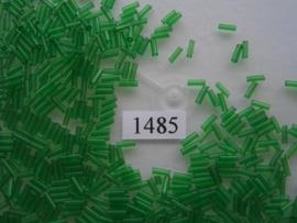 1485- 6mm glazen stiftjes transparant groen 15gr